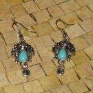 Peacock Turquoise Earrings- Peacock earrings -Turquoise earrings -Blue earrings