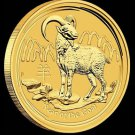 2015 Australian Perth Mint Lunar Year of the Goat 1/20 oz Gold Bullion Coin