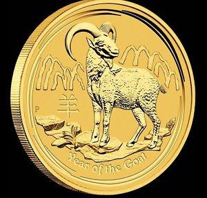 2015 Australian Perth Mint Lunar Year of the Goat 1/20 oz Gold Bullion Coin