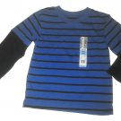 Garanimals Long Sleeves HD Stripe Tee Boys Blue 24m (New)