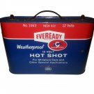 """1960's Eveready Dry Battery Weather-Proof """"Hot Shot"""" 12volt Cell Vintage."""
