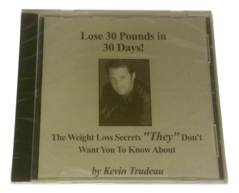 Lose 30 Pounds In 30 Days The Weight Loss Secrets By Kevin Trudeau CD Audio Book