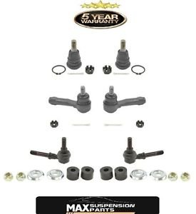 Sentra 02 TO 06 2.5L 1.8L Ball Joints Tie Rods & Sway Bar Links 6pc Kit