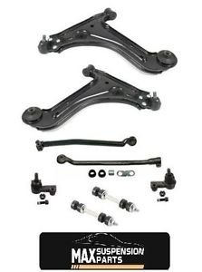 GM Cars Low Control Arms & Ball Joints Inn & Out Tie Rods Links 8Pc KIT