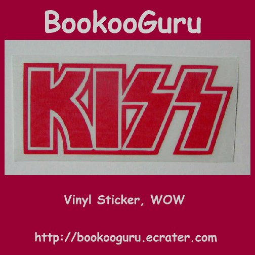 KISS (the band) Vinyl plotted Sticker, vinyl graphic, red letters