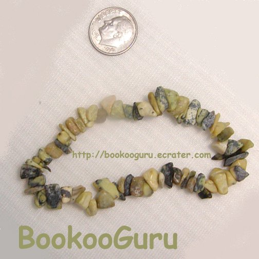 Yellow Turquoise Gemstone Bracelet-Natural Gemstone-Artisan Created-OOAK Original, BooKooGuru