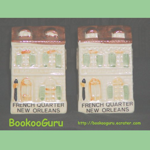 New Orleans French Quarter Salt and Pepper Shakers, Vintage, Collect, BooKooGuru