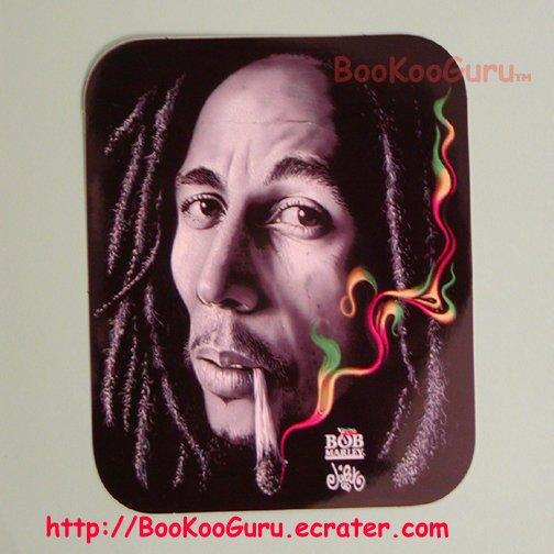 Bob Marley Sticker, Black and White Photo, blunt, Bob Marley Photo with Smoke, BooKooGuru