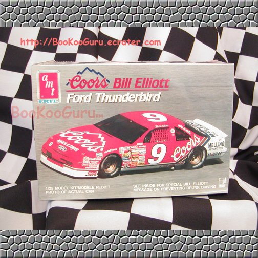 Coors, Bill Elliott, Ford Thunderbird Model Kit, AMT, ERTL, New, Unopened Toy, BooKooGuru