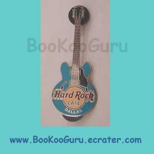 Hard Rock Cafe Dallas Texas - Blue Core Guitar - Closed and Demolished - Rare! BooKooGuru