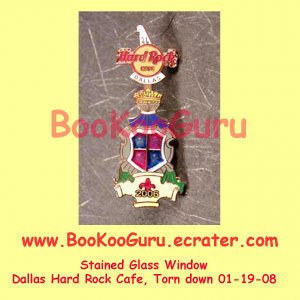 Hard Rock Cafe Dallas Texas, Stained Glass Pin #3, Torn Down, Rare, Limited Edition 300 ! BooKooGuru