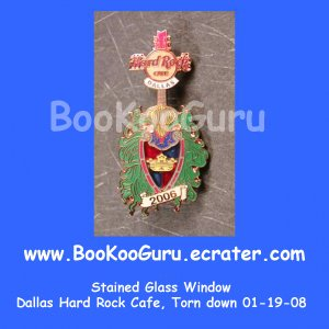 Hard Rock Cafe Dallas Texas, Stained Glass Pin #2, Torn Down, Rare, Limited Edition 300 ! BooKooGuru