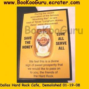 Reduced! Hard Rock Cafe Dallas Texas, Demolished, Sweet Prosperity Honey Jar Pin, LE 300! BooKooGuru