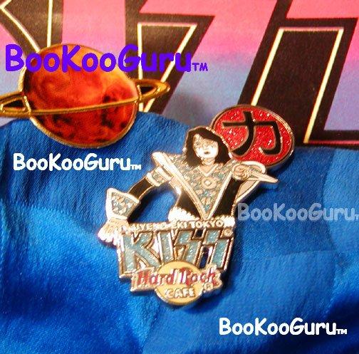 KISS - Ace Frehley - Hard Rock Cafe Pin - Uyeno Eki Tokyo Japan - Limited edition 750! BooKooGuru