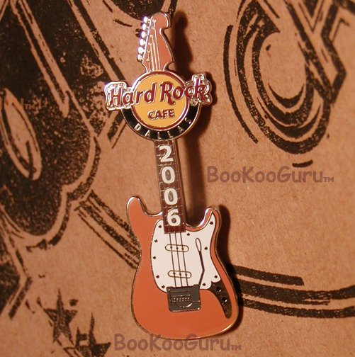 Hard Rock Cafe Dallas Texas, Kurt Cobain Guitar Pin, Nirvana, Rare, Limited Edition 300 ! BooKooGuru