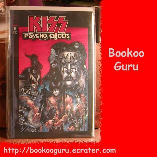 KISS (the band) Psycho Circus Comic Book, #9, Gene Simmons, Paul Stanley, Costumes, BooKooGuru