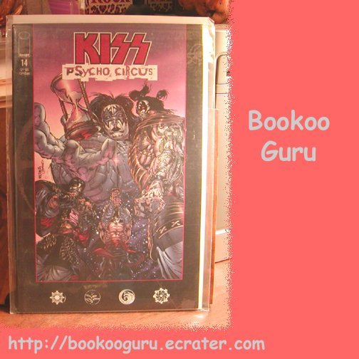 KISS (the band) Psycho Circus Comic Book, #14, Gene Simmons, Medina/Conrad artists, BooKooGuru