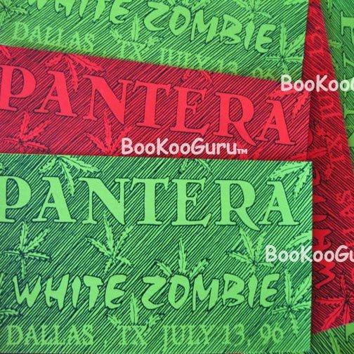 Pantera-White Zombie concert sticker 1996-Dallas Texas-Bootleg! -Metal-Diamond Darrell-Bookooguru