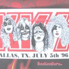 KISS concert sticker 1996 - Dallas Texas - Custom Made - Metal - Eric Carr - Bookooguru