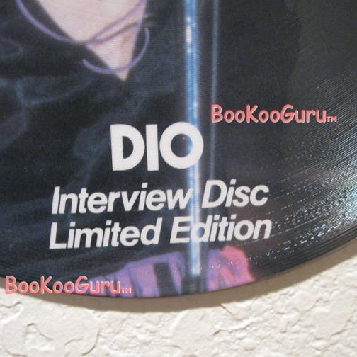 Ronnie James Dio Picture Disc - L.P.- 33 RPM - Black Sabbath - Rainbow - BooKooGuru