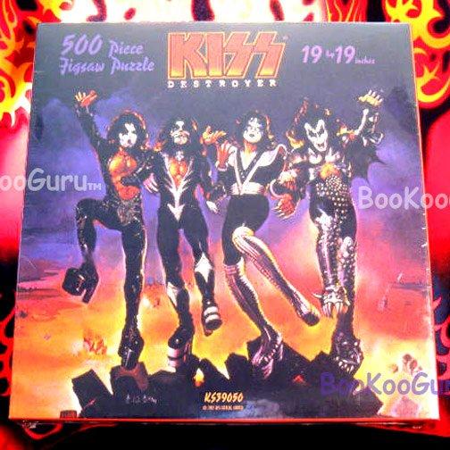 KISS - Puzzle1997 - Destroyer - Aucoin - 500 piece - KISS Catalog! - Eric Carr - BooKooGuru