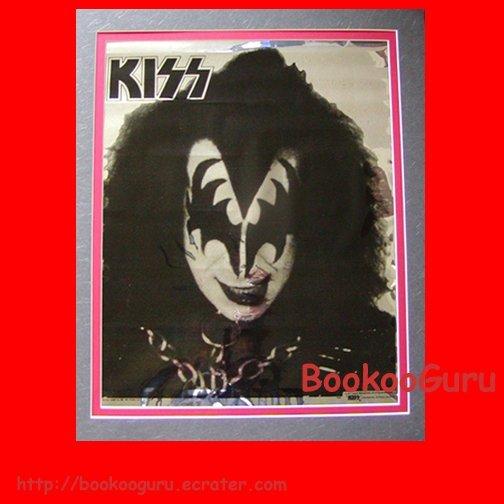 Gene Simmons Mylar Poster, KISS (the Band), 1977 Aucoin Management, Love Gun era, Foil, BooKooGuru