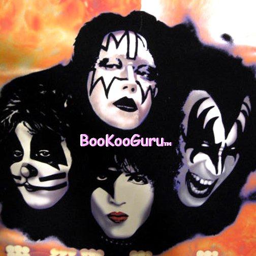 KISS Farewell - Blacklight Poster -  Ace Frehley - Gene Simmons - Paul Stanley - BooKooGuru!