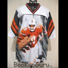 Football Jersey, Orange and Black, #15, Youth Size, Sporttrax Brand with Label