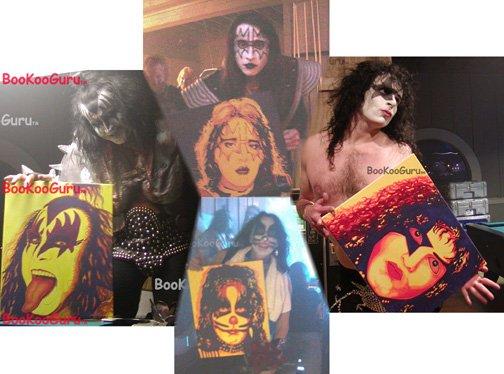 All 4 Original KISS Members, Original Paintings, Entire Set, Free Shipping!