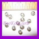 Dozen Round Shell Beads, Silver Tone, 6mm, Rare & Vintage, Make Jewelry