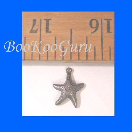 One Single Starfish Charm, Antique Silver, Vintage, Rare, Nautical, BooKooGuru