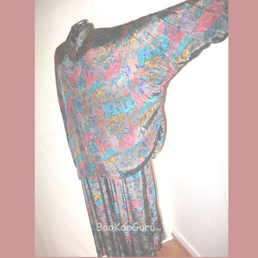 Multi-colored Vintage Suit, Skirt & Top, Only $2! Thums Up brand, Full Skirt, Vintage clothing