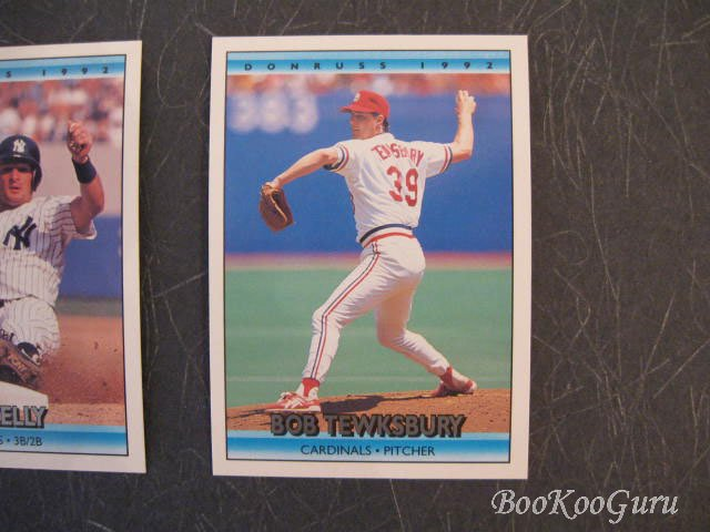 Donruss, 1992, Baseball Cards, Bob Tewksbury, Pat Kelly, Dave Gallagher, Set of 3, Near Mint