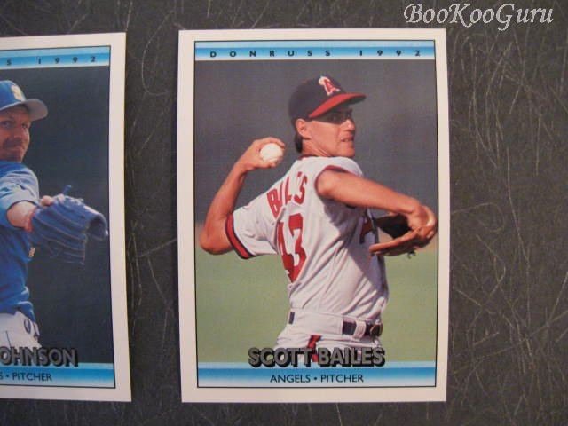 Donruss, 1992, Trading Cards, Scott Bailes, Randy Johnson, Wes Chamberlain, Set of 3, Near Mint