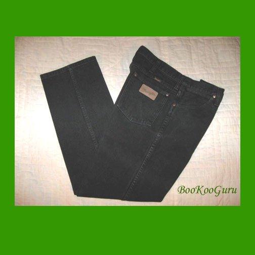 Vintage Wrangler Jeans, Black denim, Size 33x30, Style 936WBK W411