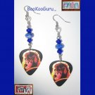 KISS Ace Frehley Guitar Pick Earrings, Genuine KISS, Artisan Designed, Hand-crafted
