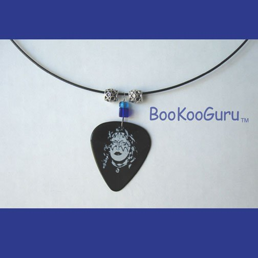 KISS Ace Frehley Guitar Pick Necklace, Original Design, Texas Artisan Crafted