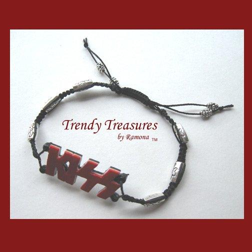 KISS Logo Bracelet, Artisan Original Design, Made in Texas