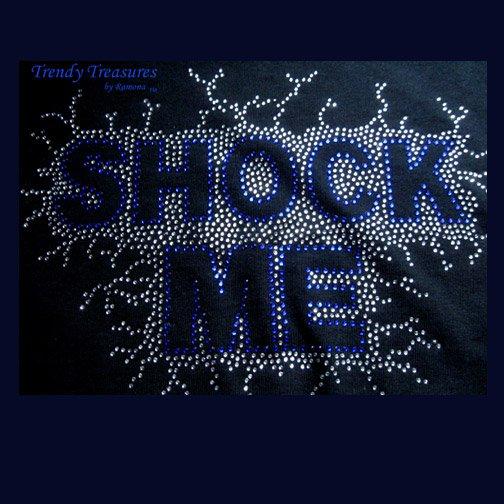 Ace Frehley, KISS, Shock Me! Bling Rhinestone Embellished T-shirt, Free Shipping