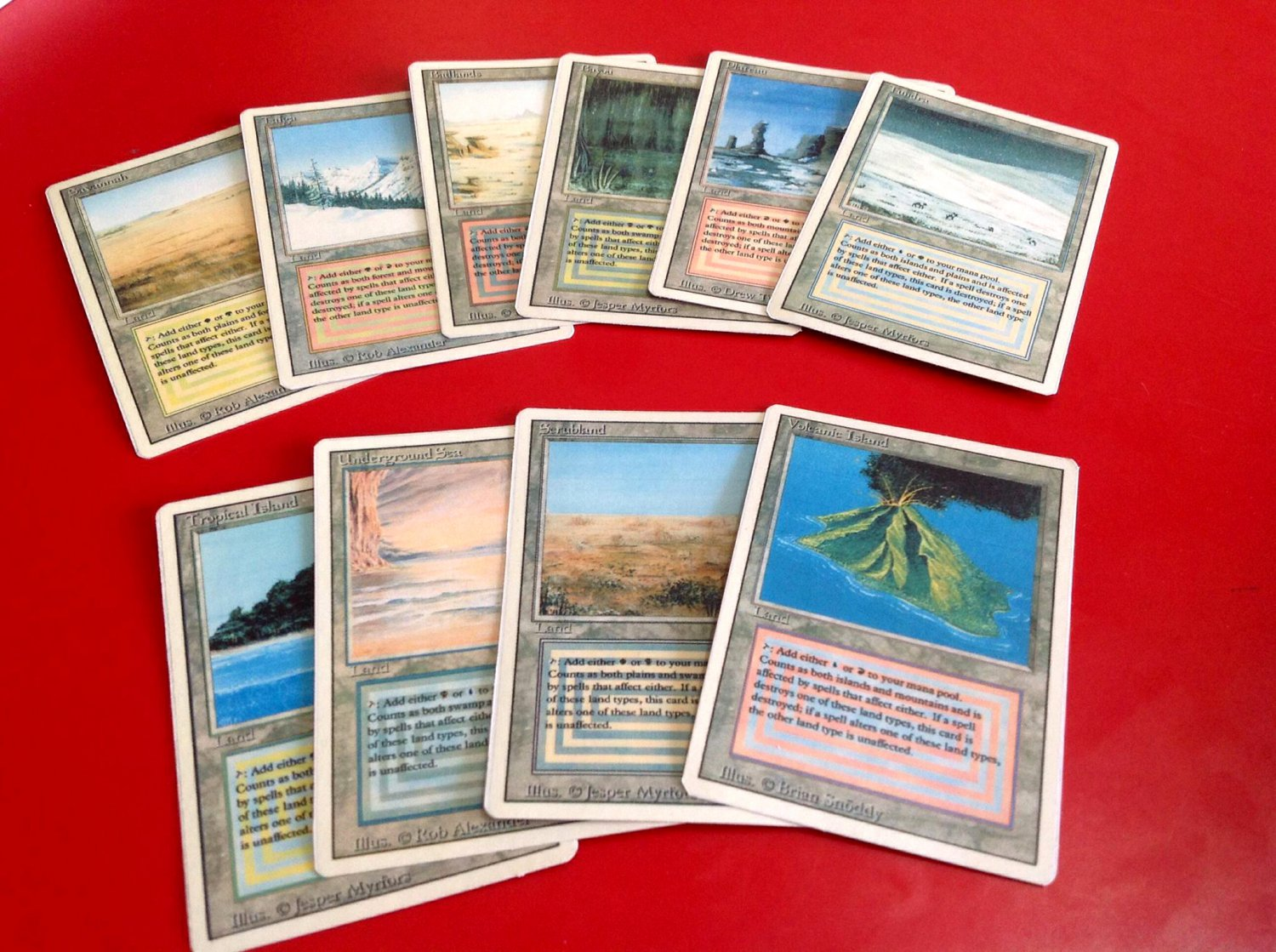 Dual Lands Revised Ed Mtg Proxy Cheap And Affordable Fetch lands they deal one damage to you to search your library for a land with a basic. dual lands revised ed mtg proxy cheap