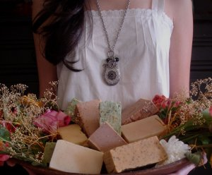 Luxurious, Soothing and Mosturizing Handmade Primitive Goat's Milk(Goats Milk) Soap!!