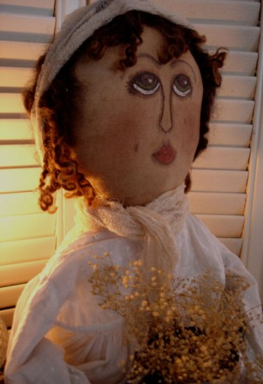 Handpainted and Handmade Primitive Doll