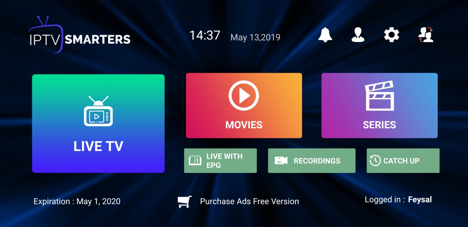 1 MONTH IPTV subscription with VOD