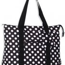 Black / White Dot Large Tote