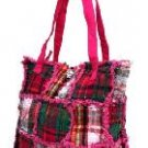 Pink Ragged Patch Handbag