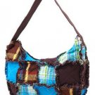 Turqoise Hobo Ragged Patch Handbag