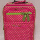 Small Fushia/Green Dot Rolling Suitcase