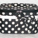 Small Black / White Dot Cosmetic Case