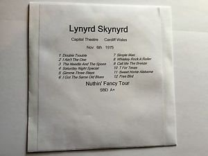 Lynyrd Skynyrd CD Wales 1975 Nuthin' Fancy