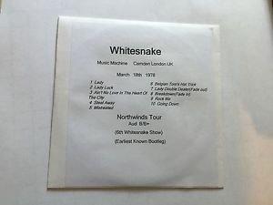Whitesnake CD Camden 1978 Northwinds